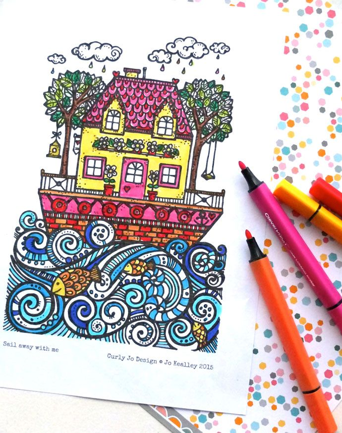 The Lucky Draw Project – Sail Away with Me Colouring Page | My Poppet Makes