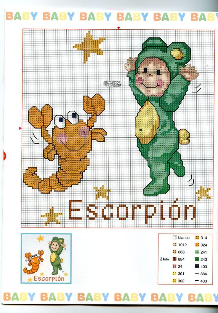 Schema punto croce Baby Oroscopo 5