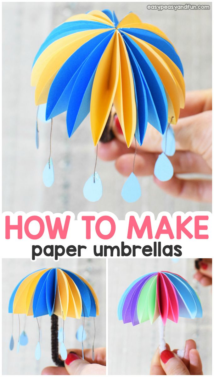 How To Make Paper Umbrellas Easy Peasy And Fun Paper Crafts For Kids Easy Paper Crafts Summer Crafts For Kids