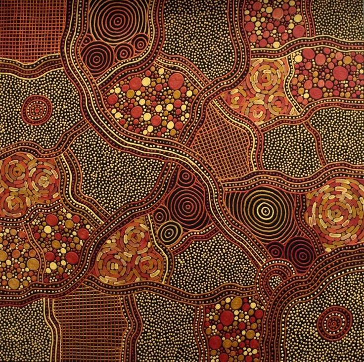 """Check out this exquisite painting """"My Country"""" by Tarisse King. 60cm x 60cm Acrylic on Linen Artwork $880    It portrays the countryside where her ancestors, the Gurindji tribe have traveled & lived for generations.   Tarisse has a truly incredible capacity to blend the ancient with the new to produce artworks that tells her ancestor's history in a contemporary style."""