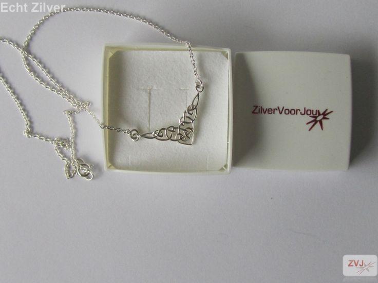 Zilveren klassieke keltische knoop collier ketting €24.95 inclusief verzenden - ZilverVoorJou Echt 925 zilveren sieraden