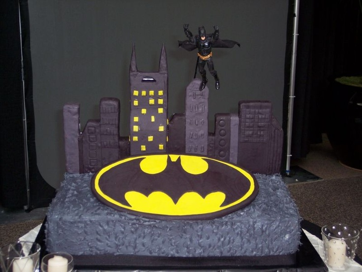 batman grooms cake. I might as well prepare for this... I know this will be what JP wants.