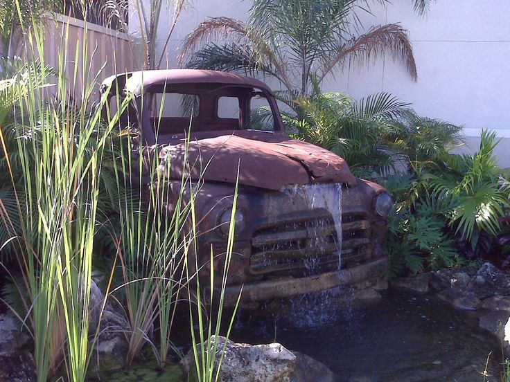 Old Truck Fountain By Anne Kibbe Water Features In The