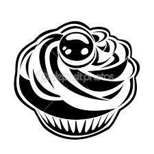Risultati immagini per cupcake disegno bianco e nero