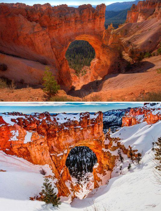 Красота национального парка Брайс-Каньон с гигантскими каменными глыбами, напоминающие амфитеатр, сделанный матушкой природой.