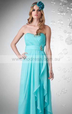 Chiffon Sweetheart Empire A-line Floor-length Bridesmaid Dresses 0740159--Hodress
