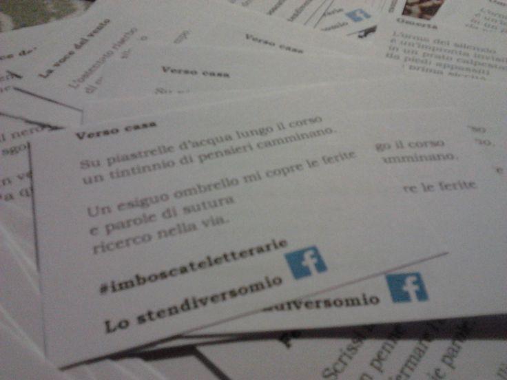 Versi schierati pronti per nuove #imboscateletterarie.  Direzione Bologna.