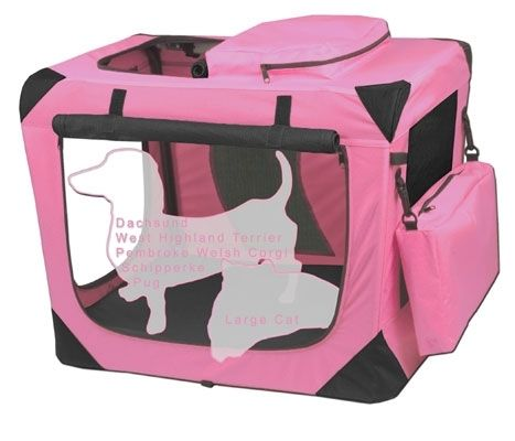 Pet Gear Pink Small Deluxe Soft Dog Crate