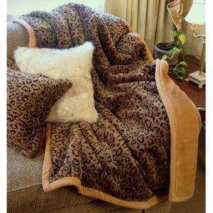 Fuzzy Leopard Print Blanket Animal Print Animal Print Bedding