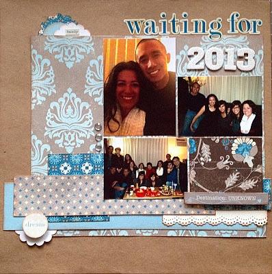 Happy New Year Scrapbook Layout