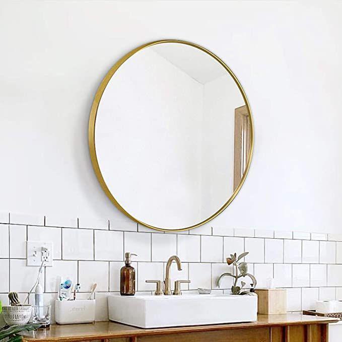 Haile Antique Gold 17 1 4 X 20 Round Wall Mirror Round Wall Mirror Mirror Wall Mirror
