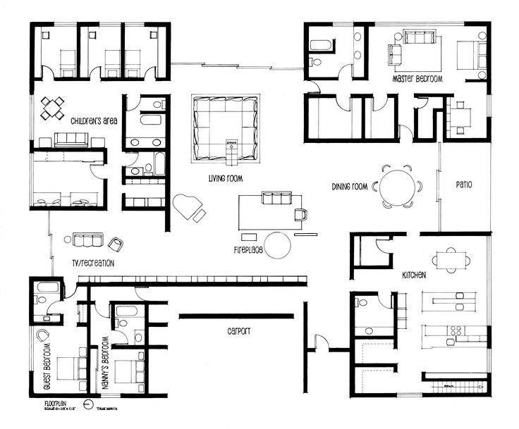 53 best miller house images on pinterest miller house alexander using blueprints i recreated and hand drafted eero saarinens floor plans for the beautiful mid century modern home he built for the miller family in malvernweather Image collections