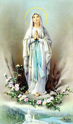 Our Lady of Lourdes memorial Print-image