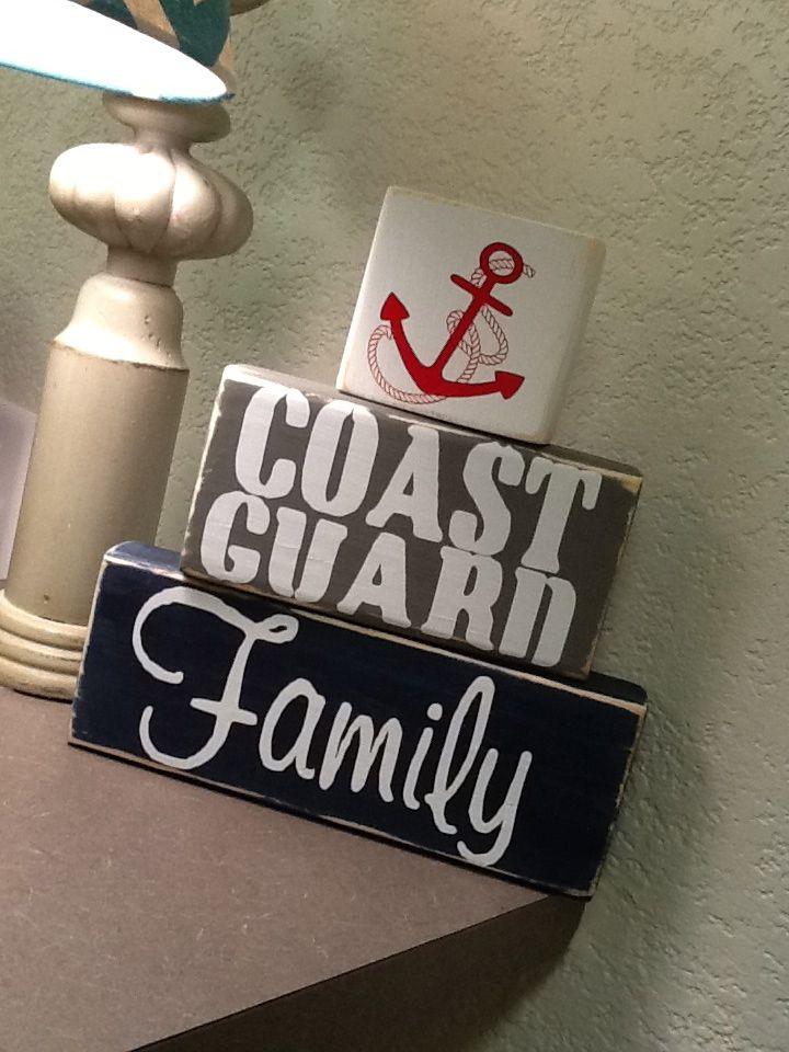 Coast Guard Family block set ** Custom Made By Kara's Custom Memories ** To order visit my FB... www.facebook.com/kcmcreativememories