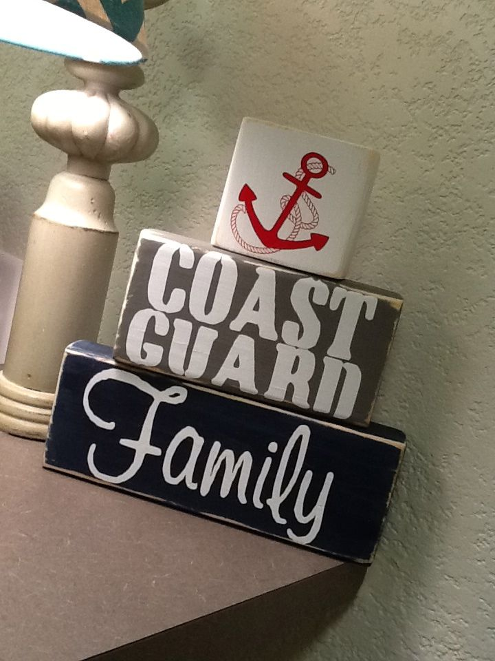 Coast Guard Family block set ** Custom Made By Kara's Custom Memories ** To order visit my FB... www.facebook.com/kcmcreativememories