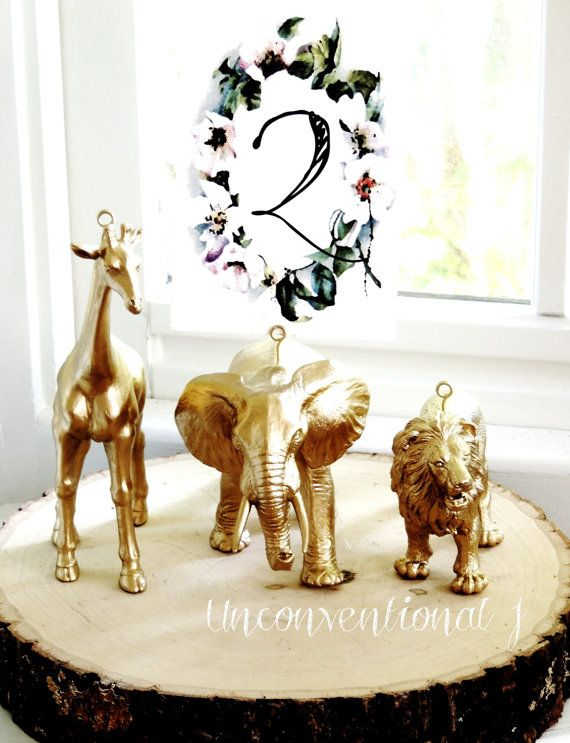 10 Wedding Table Number Holders Gold Wire Card by unconventionalJ
