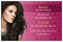 Carte de visite  Styles Hair Coiffure à Domicile Avignon Vaucluse France