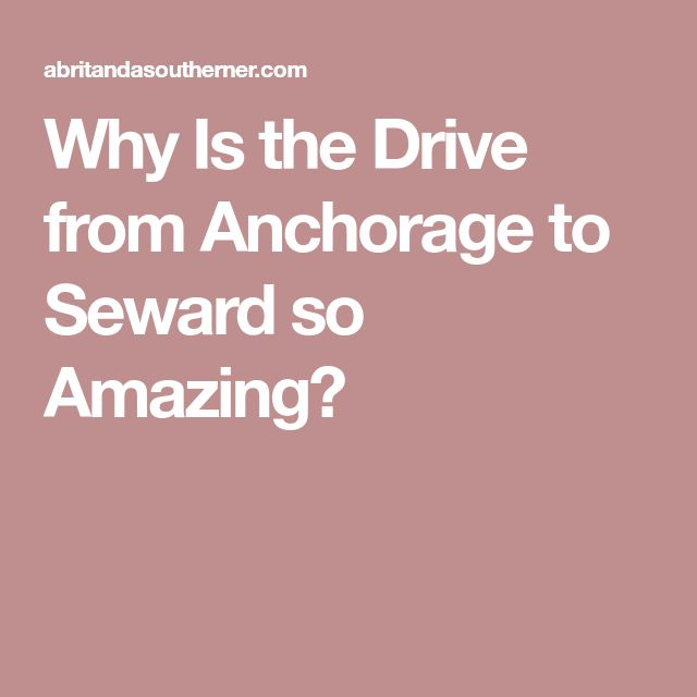 Why Is the Drive from Anchorage to Seward so Amazing?