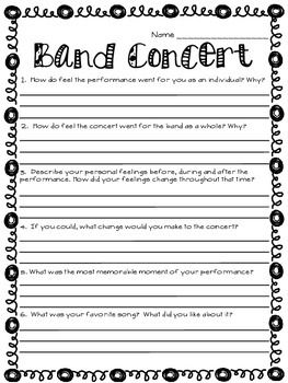 MUSIC PERFORMANCE SELF-EVALUATION, BAND & ORCHESTRA - TeachersPayTeachers.com