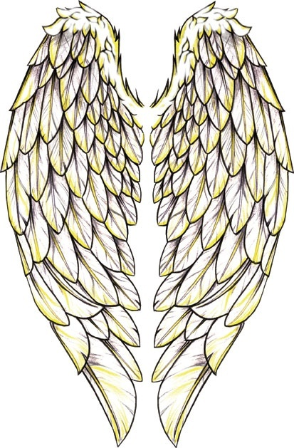 Giant Angel Wings Tattoo
