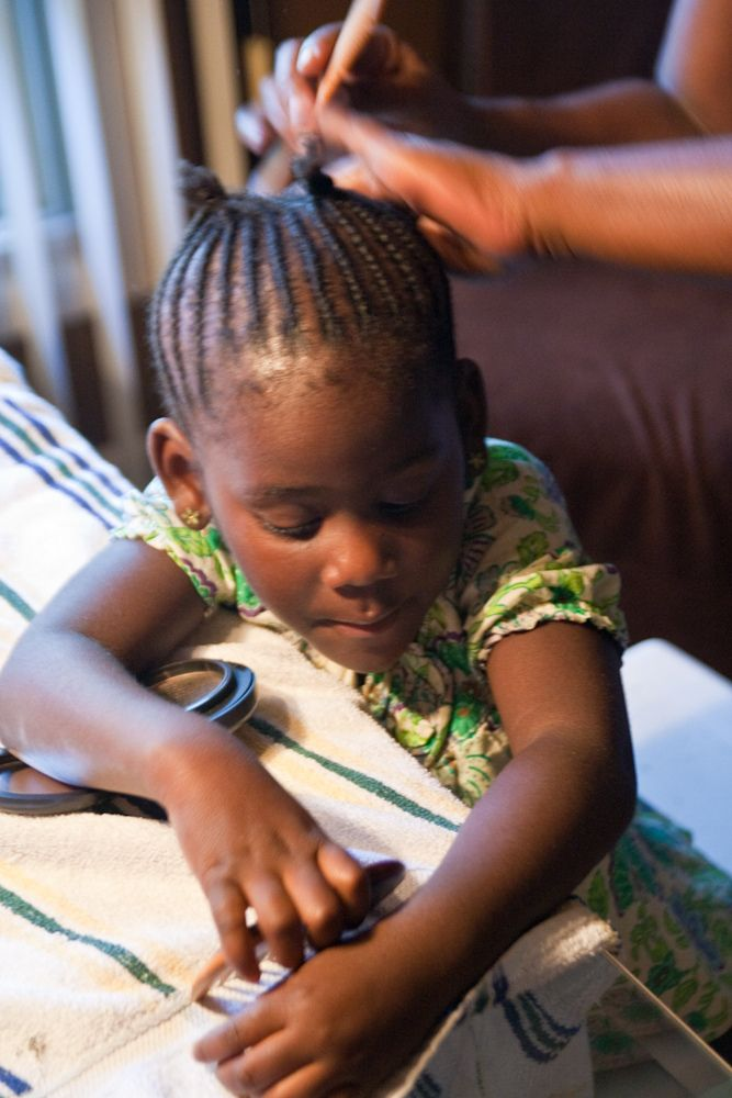 wikiHow to Braid African American Hair complete with how to do cornrows, rope braids and a video for visual learners like me :)
