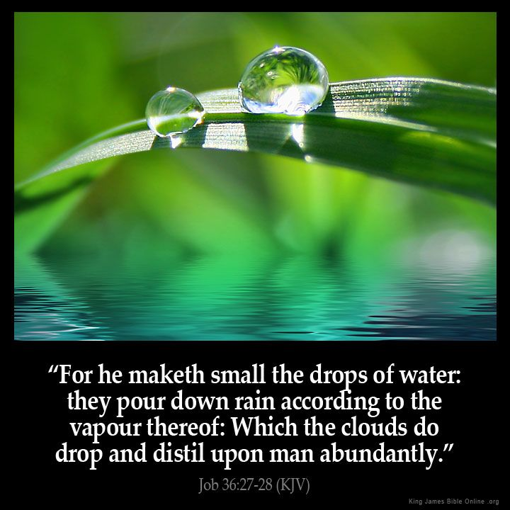 Job 36:27  For he maketh small the drops of water: they pour down rain according to the vapour thereof:  Job 36:27 (KJV)  from King James Version Bible (KJV Bible) http://ift.tt/1QuiLGu  Filed under: Bible Verse Pic Tagged: Bible Bible Verse Bible Verse Image Bible Verse Pic Bible Verse Picture Daily Bible Verse Image Job 36:27 King James Bible King James Version KJV KJV Bible KJV Bible Verse Pic Picture Verse         #KingJamesVersion #KingJamesBible #KJVBible #KJV #Bible #BibleVerse…