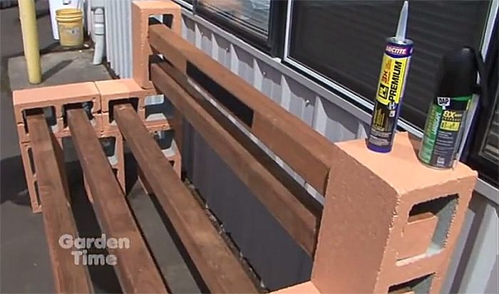 Build A Concrete Block Bench
