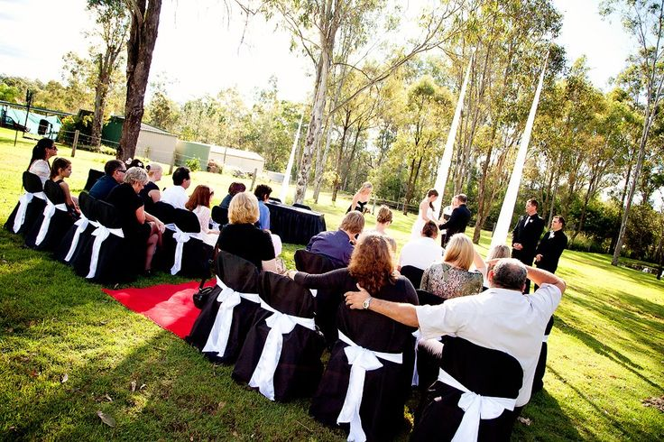 A gorgeous ceremony held in their back yard