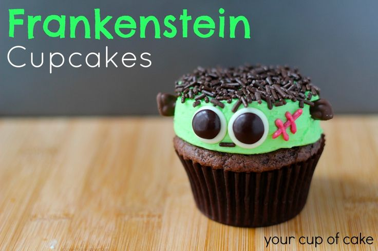 Frankenstein Cupcakes - Your Cup of Cake