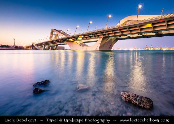 United Arab Emirates - UAE - Abu Dhabi - Sheikh Zayed Bridge at Dusk - Twilight - Blue Hour by  Lucie Debelkova / http://ift.tt/16wNTM2