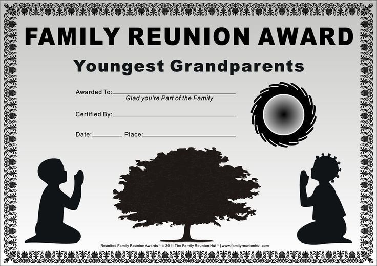 Family Reunion Activities | ... Prayer 1 is a Free Family Reunion Award by The Family Reunion Hut