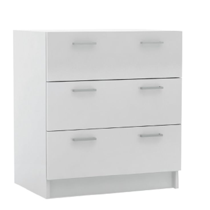 Drawer Decon MB with 3 draws white 60x40x68 Ε820-ΜΒ