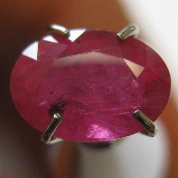 Batu Mulia Natural Ruby Oval Pigeon Blood 1.59 Carat