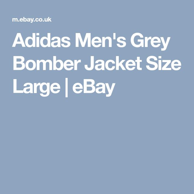 Adidas Men's Grey Bomber Jacket Size Large  | eBay