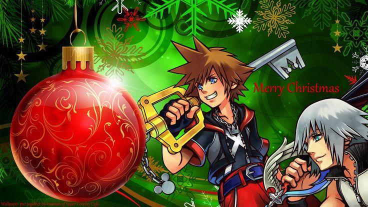 Kingdom Hearts Christmas wallpaper | Christmas! | Pinterest ...
