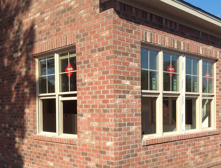 These Windows Are Framed By A Soldier Course Header And