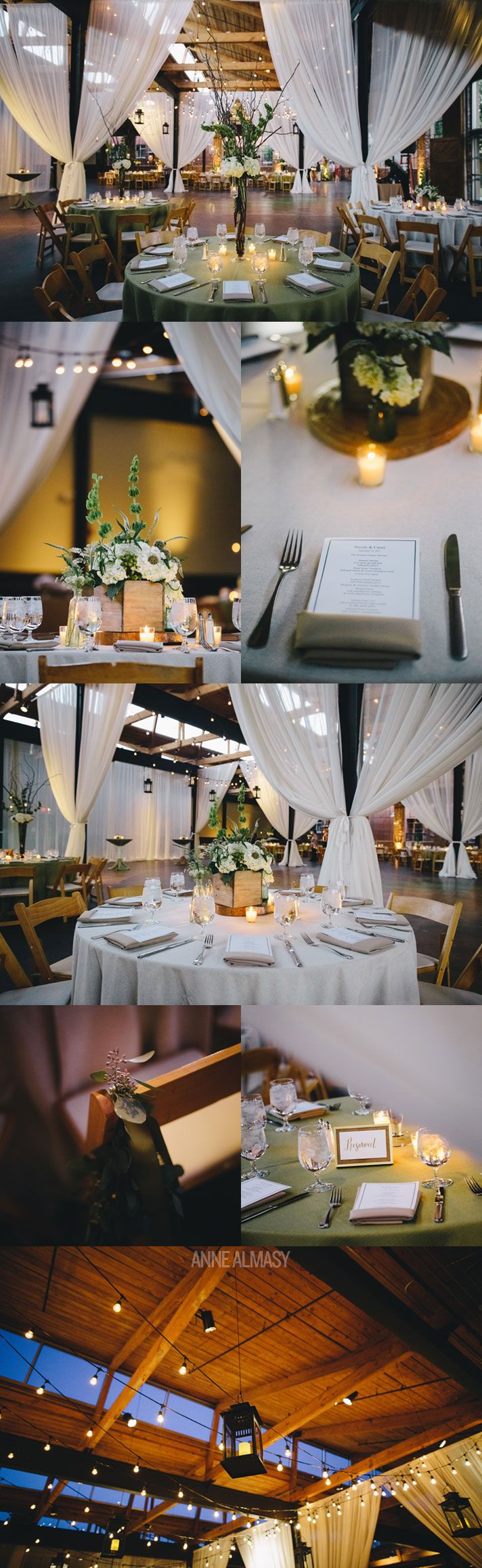 Industrial, Loft-Style Wedding Decor by Bold American | Casey & Nicole | The Foundry | Atlanta, GA » Anne Almasy