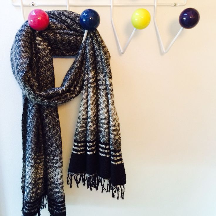 Handwoven soft scarfs in worsted wool