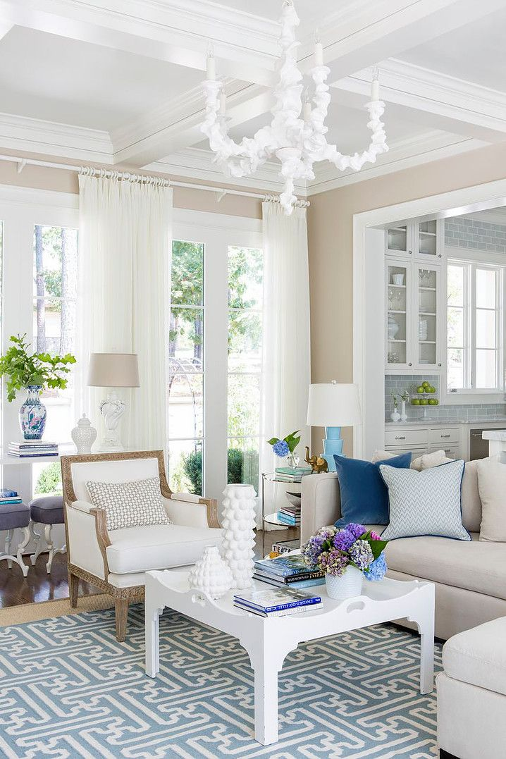 Get This Summer Living Room Look With Oly Studio Klemm Chandelier In White  Www.olystudio