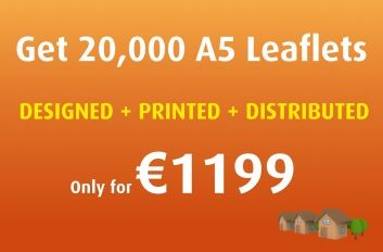 #Leaflets will be printed both sides on 130 gloss paper.