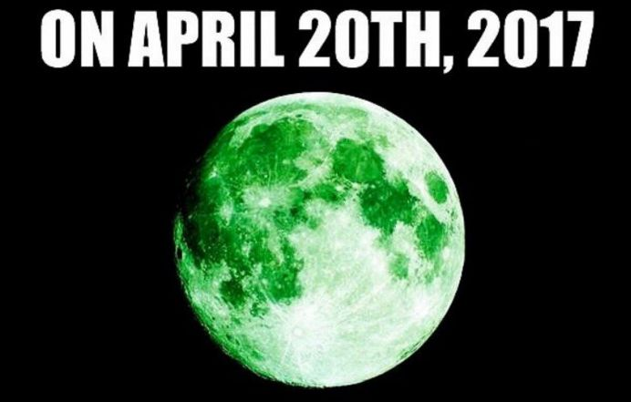 Rare 'Green Moon' Appearing on April 20 Is A Viral Hoax