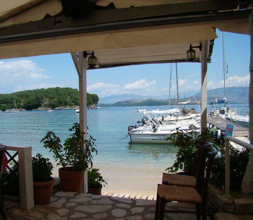 Agni Bay Corfu, Nikolas Tavern, Periklis Katsaros and Family