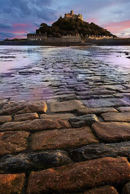 St. Michael's Mount, Cornwall, England. St Michael's Mount is a tidal island 366 metres off the Mount's Bay coast of Cornwall, England.
