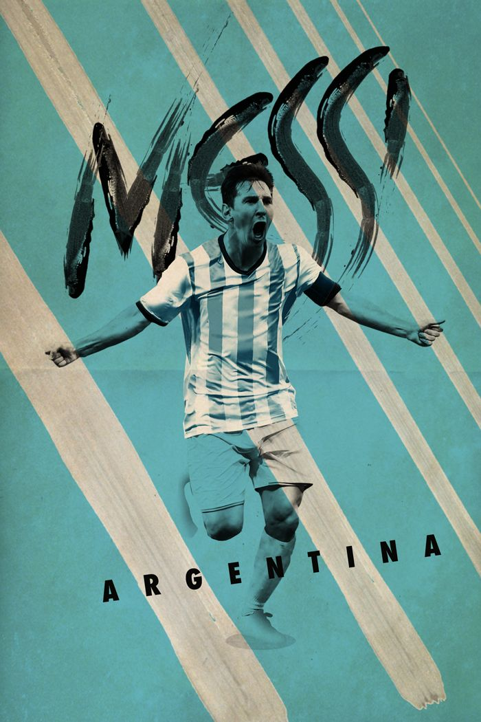 Copa America stars posters inspired on this colourful and passionate continent.
