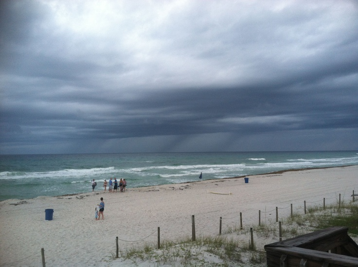 Beach Rain on 6-10-12 on the West End of PCB