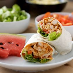 This site has a lot of great recipe ideas! Chicken Salsa Ranch Wraps. A quick dinner or easy lunch that keeps things healthy when your cramped for time.