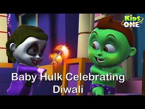 kids Rhymes: Baby Hulk Celebrating DIWALI  Funny Video  Happy D...
