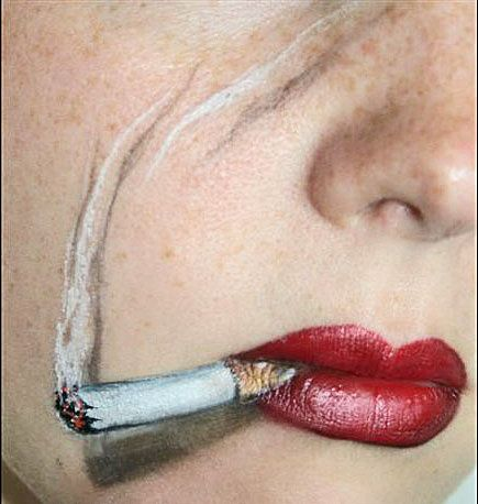 Want to dress up as a character known for smoking? Don't actually light up—just draw a cigarette on yourself. Photo courtesy Yolanda Bartram