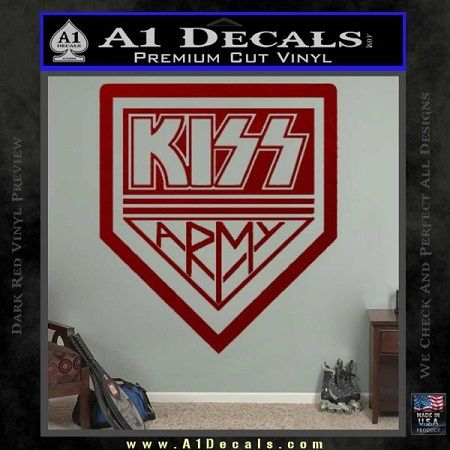 kiss army sticker: kiss army sticker