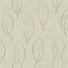 20.5 In. W Beige and Grey Large Scale Modern Spot Leaf in Metallics Wallpaper